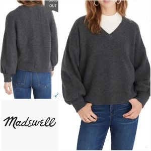 MADEWELL Dashwood V-Neck Sweater Medium